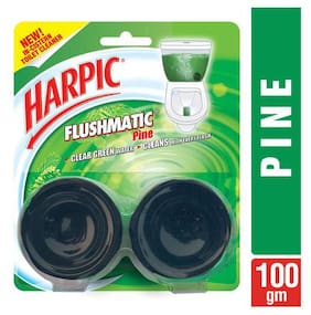 Harpic Cistern Block - Flushmatic  Toilet In  Twin Pine 100 g
