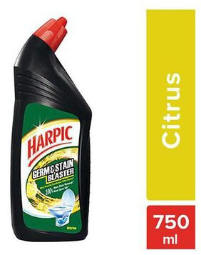 Harpic Toilet Cleaner - Citrus  Germ And Stain Blaster 750 ml