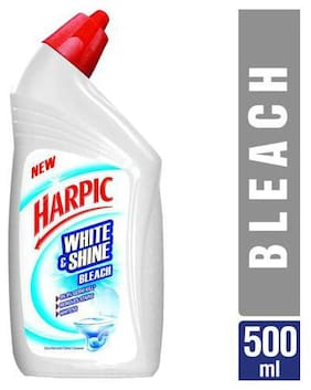 Harpic Toilet Cleaner - Bleach  White & Shine 500 ml