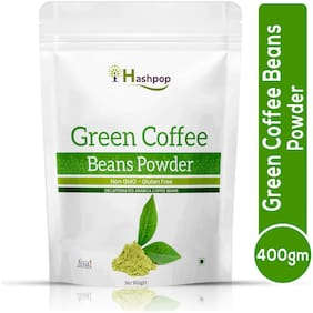 Hashpop Green Coffee Beans Powder for Weight Loss Management Instant Coffee (400g, Green Coffee Flavoured)