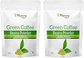 Hashpop Green Coffee Beans Powder for Weight Loss Management Instant Coffee 50 g Pack of 2