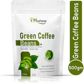 Hashpop Green Coffee Beans for Weight Loss Management Instant Coffee (500g, Green Coffee Flavoured)