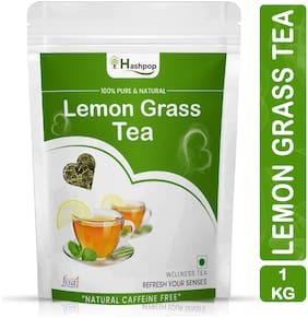 Hashpop Immunity Boosting Lemongrass Flavoured Whole Leaf Green Tea Pouch-1kg