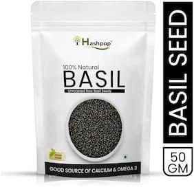 Hashpop Raw Basil Seeds for Weight Loss (50 g)