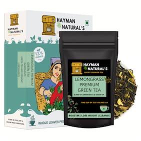 HAYMAN NATURAL'S Lemongrass Green Tea (50g - 41 Cups) Antioxidants Rich for Weight Management