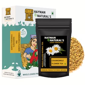 HAYMAN NATURAL'S Chamomile Flower Tea (100g - 82 Cups) For Stress Relief & Good Sleep