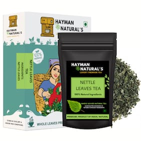 HAYMAN NATURAL'S Nettle Leaves Tea (200g - 164 Cups) Urtica Dioica-Herbal Tea | Lowers Blood Pressure Levels| Eases Joints | Reduces PMS Symptoms-200g