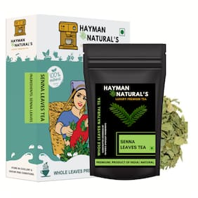 HAYMAN NATURAL'S Senna Leaves Tea (100g - 82 Cups) Helps with Constipation-100g
