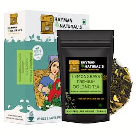 HAYMAN NATURAL'S Lemongrass Oolong Tea ( - 112 Cups) for Weight Loss and Belly Fat Made with oolong tea, Lemongrass-100% Natural-200g
