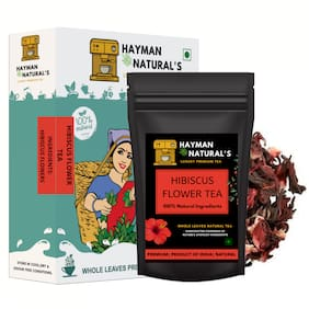 HAYMAN NATURAL'S Habiscus Flower tea (100g - 82 Cups) for Controls Blood Sugar and Cholesterol-Caffeine free