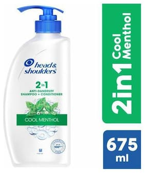 Head & shoulders Shampoo + Conditioner - 2-in-1  Cool Menthol 675 ml