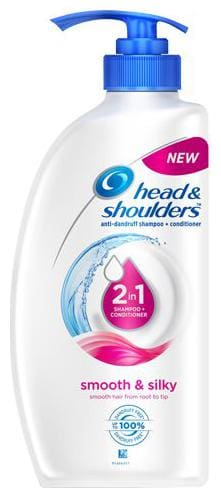 Head & Shoulders 2-In-1 Shampoo + Conditioner - Smooth & Silky 675 Ml