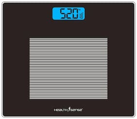 Health Sense Ps115 Dura-Glass Digital Personal Weighing Scale Black Pack Of 1
