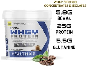 HealthXP Essential Series 100% Whey Protein 5Kg - Cuban Coffee