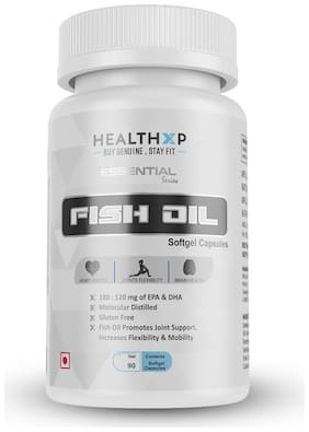 HealthXP Essential Series Fish Oil 1000 Mg 90 Capsules