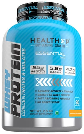 HealthXP Essential Series 100% Whey Protein 2.5Kg - Mango Shake