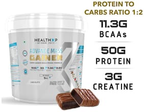 HealthXP Premium Series Advance mass Gainer 5 kg Chocolate
