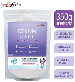 Healthgenie Epsom Salt with Lavender Fragrance for Relaxation and Pain Relief - 350g