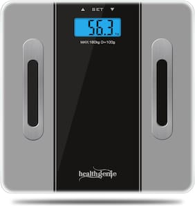 Healthgenie Body Fitness Monitor Fat Analyzer and Weighing Scale - Grey