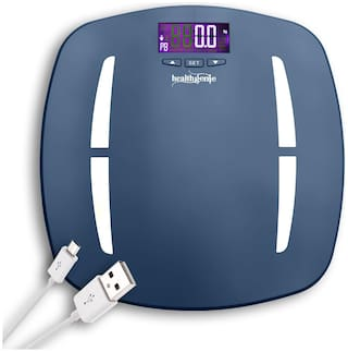 Healthgenie Digital Personal Body Fat Analyzer And Weighing Scale (HB-331) - Blue