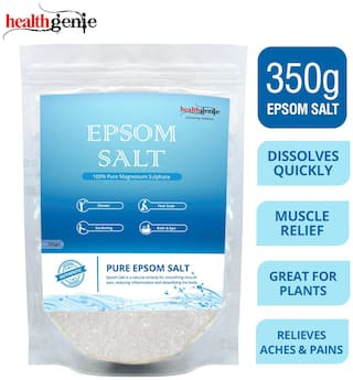 Healthgenie Epsom Salt for Relaxation and Pain Relief, 350g