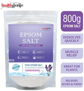 Healthgenie Epsom Salt with Lavender Fragrance for Relaxation and Pain Relief - 800 g