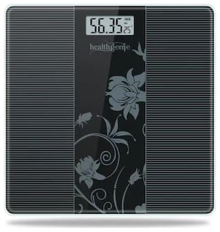 Healthgenie Electronic Digital Weighing Machine Bathroom Personal Weighing Scale - 93;Max Weight : 180 kgs.