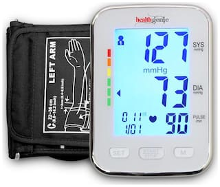 Healthgenie Digital Upper Arm Blood Pressure Monitor (Bp Monitor) Bpm04Bl
