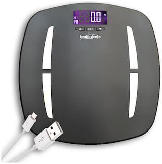 Healthgenie Digital Personal Body Fat Analyzer And Weighing Scale (HB-331) - Grey