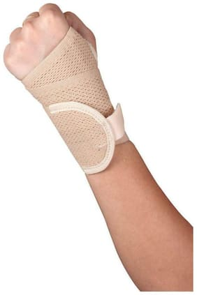Healthgenie Wrist Brace with Thumb Support (Beige) - 1 pc