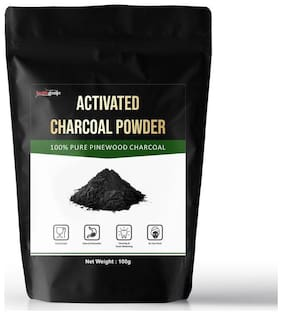 Healthgenie Activated Charcoal Powder Pinewood 100 g