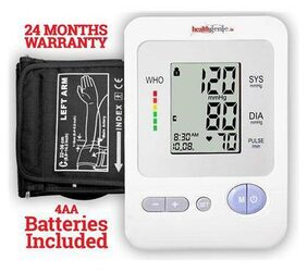 Healthgenie BP Monitor digital Upper Arm BPM 02; with irregular heart beat indicator
