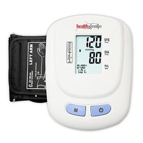 Healthgenie BP Monitor digital Upper arm BPM 01W Automatic with irregular heart beat indicator
