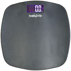 Healthgenie Digital Personal Weighing Scale With Step On Technology - Fibre (Grey)