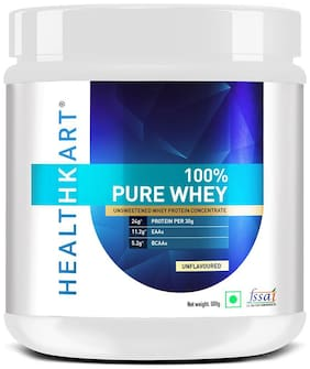 Healthkart 100% Pure Raw Whey Protein Concentrate;(Unflavoured 500g) (Pack of 1)