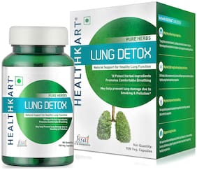 Healthkart Lung Detox;100% natural;Prevents lungs from smoking & Pollution;90 capsules