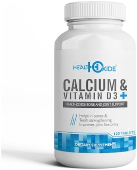HealthOxide Calcium 625 mg + Vitamin D3 400 IU for Bone Health 120 Tablets