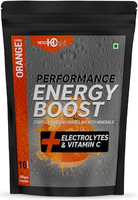 HEALTHOXIDE Energy Boost Extra Power Energy Drink (Orange )500g