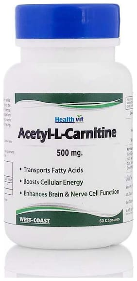 HealthVit Acetyl-L-Carnitine 500 mg 60 Capsules
