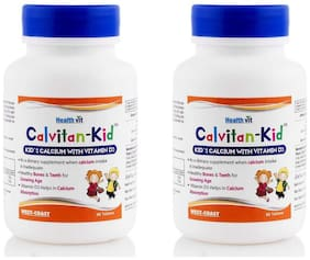 HealthVit Calvitan - KID Kid s Calcium with Vitamin D3 60 Tablet (Pack of 2)
