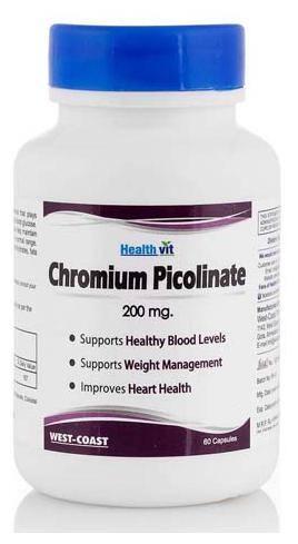 HealthVit Chromium picolinate 200 mcg 60 Capsules