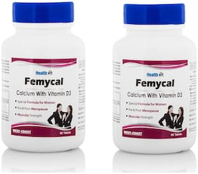 HealthVit FEMYCAL Calcium and Vitamin D3 (Pack of 2)