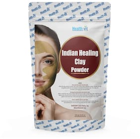 HealthVit Indian Healing Clay Powder 100 gm (3.52 Oz) | For Face And Body Detox|Clay Mask Detox Etc