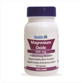 HealthVit Magnesium Oxide 400 mg . 60 Capsules