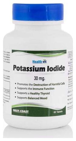 HealthVit Potassium Iodide 30 mg 60 Tablets