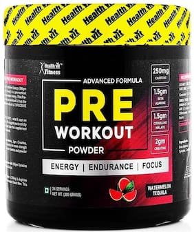 HealthVit Pre-Workout Explosive Energy 300 g - Watermelon Tequila Flavour