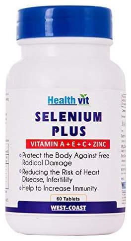 HealthVit Selenium Plus (Vitamins A C E Zinc) 60 Tablets
