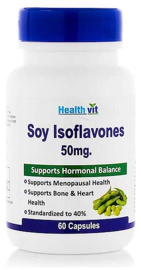 HealthVit Soy Isoflavones Extract 50 mg 60 Capsules