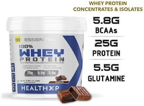HealthXP Essential Series 100% Whey Protein 5Kg - Chocolate