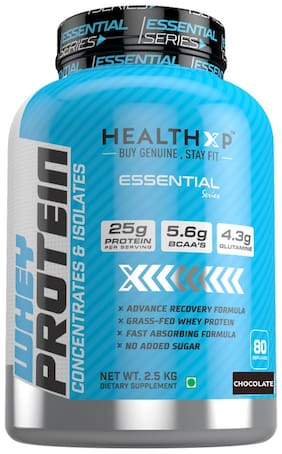 HealthXP Essential Series 100% Whey Protein 2.5Kg - Chocolate